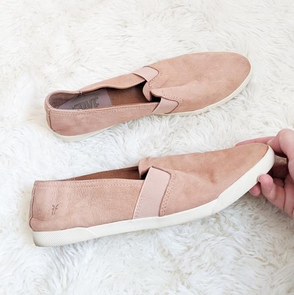 Frye Lisa Slipon Leather Sneakers Dusty